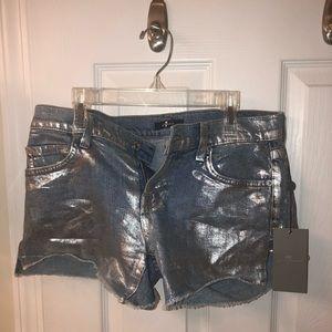 Pants - Metallic Shorts